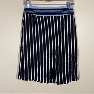 Loft Striped Pencil Skirt
